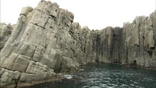 東尋坊の断崖(大池)