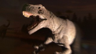 恐竜のジオラマ