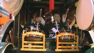 太鼓や三味線が三国祭を盛り上げる