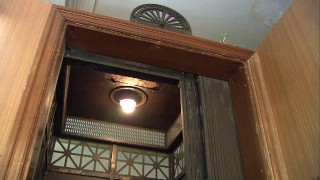 大和田銀行に設置された北陸初のエレベーター