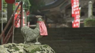弘法大師は鶏の鳴き声で朝が来たと思い石観音を彫りかけたまま