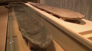 ユリ遺跡出土の丸木舟